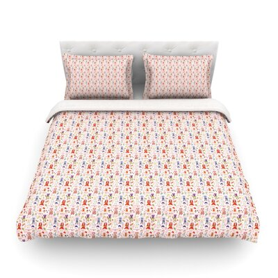 Miss Ruby Pattern by Iris Lehnhardt Featherweight Duvet Cover Size: Full/Queen