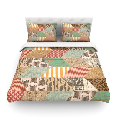 Hodge Podge Vintage Texture by Heidi Jennings Featherweight Duvet Cover Size: King