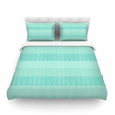 Mod Grass Lines by Holly Helgeson Featherweight Duvet Cover Size: Twin