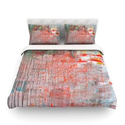 Mots de La Terre Splatter Paint by Iris Lehnhardt Featherweight Duvet Cover Size: Full/Queen