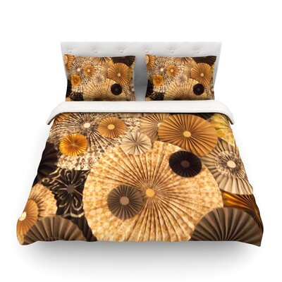 Grounded Paper by Heidi Jennings Featherweight Duvet Cover Size: Full/Queen