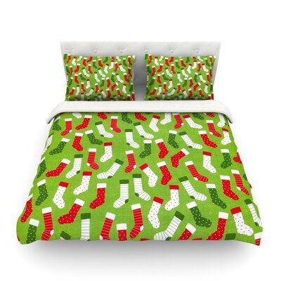 Stocking Season by Heidi Jennings Featherweight Duvet Cover Size: King