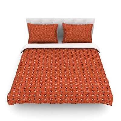 Deco Arrows Pattern by Holly Helgeson Featherweight Duvet Cover Size: King