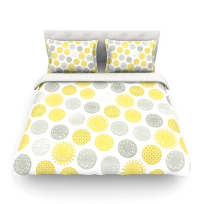 Sunspot Spots by Heidi Jennings Featherweight Duvet Cover Size: Twin