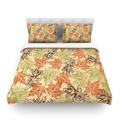 Leaf it to Me by Heidi Jennings Featherweight Duvet Cover Size: Full/Queen