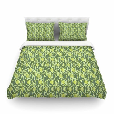 Pod Perfect Patttern by Holly Helgeson Featherweight Duvet Cover Size: Twin
