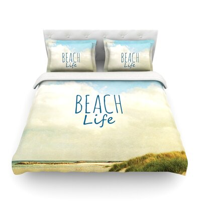 Beach Life Beach by Iris Lehnhardt Featherweight Duvet Cover Size: Twin