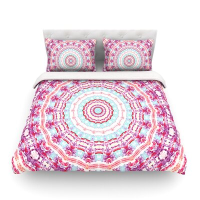 Happy Circle by Iris Lehnhardt Featherweight Duvet Cover Size: King
