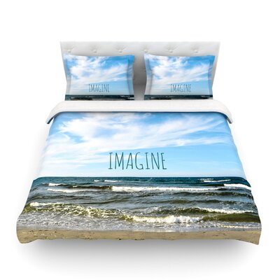 Imagine Beach by Iris Lehnhardt Featherweight Duvet Cover Size: Twin