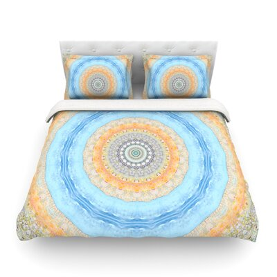 Summer Mandala Circle by Iris Lehnhardt Featherweight Duvet Cover Size: King