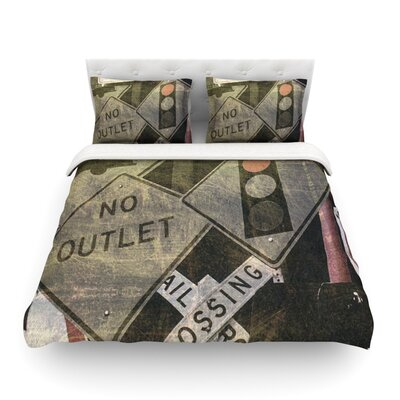 City Outing Urban Signs by Heidi Jennings Featherweight Duvet Cover Size: Full/Queen