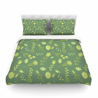 Hattie Floral by Holly Helgeson Featherweight Duvet Cover Size: Twin