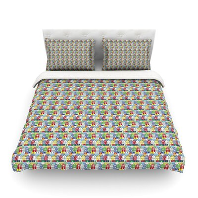 Reykjavik Rainbow Pattern by Iris Lehnhardt Featherweight Duvet Cover Size: King