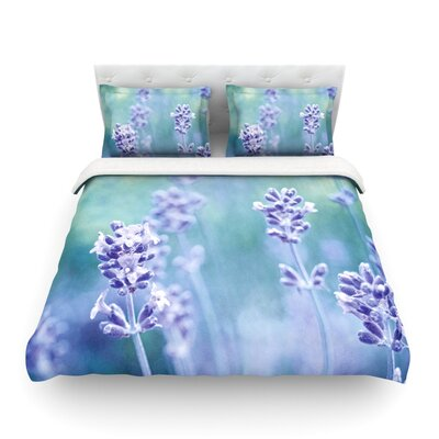 Lavender Dream Flower by Iris Lehnhardt Featherweight Duvet Cover Size: King