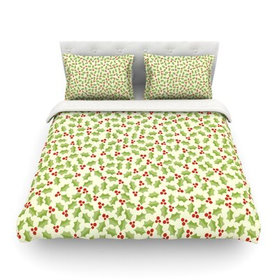 Oh Holly Night by Heidi Jennings Featherweight Duvet Cover Size: Twin
