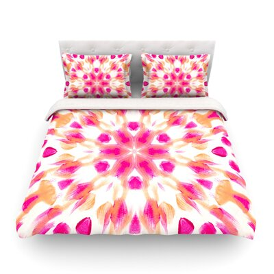 Batik Mandala by Iris Lehnhardt Featherweight Duvet Cover Size: Full/Queen