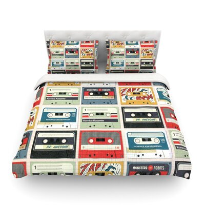 Retro Tape by Heidi Jennings Featherweight Duvet Cover Size: Full/Queen