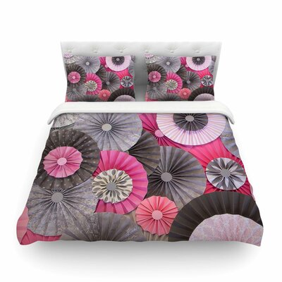 Forest Green Abstract by Heidi Jennings Featherweight Duvet Cover Size: King