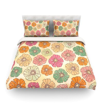 Vintage Petals by Heidi Jennings Featherweight Duvet Cover Size: Twin