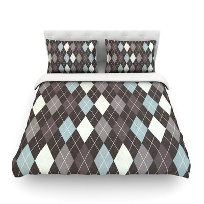 Argyle by Heidi Jennings Featherweight Duvet Cover Size: King