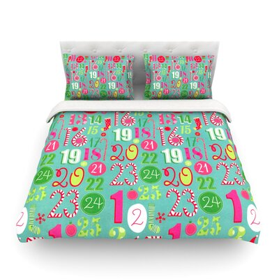 Merry Countdown by Heidi Jennings Featherweight Duvet Cover Size: Twin