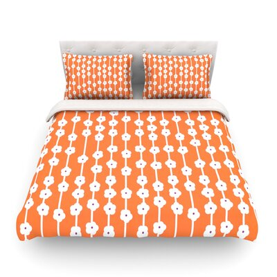 You Cute Tangerine by Heidi Jennings Featherweight Duvet Cover Size: King