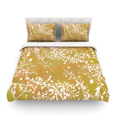 Twigs Silhouette by Iris Lehnhardt Featherweight Duvet Cover Size: Twin, Color: Neutral/Earthy
