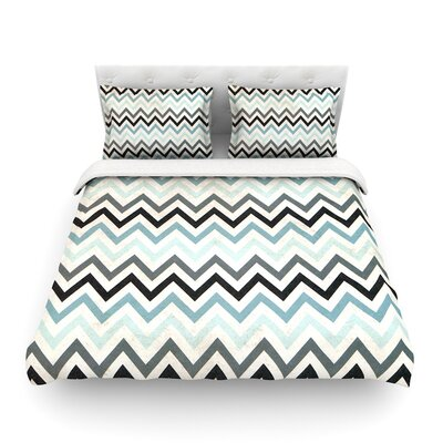 Chevron by Heidi Jennings Featherweight Duvet Cover Size: Twin