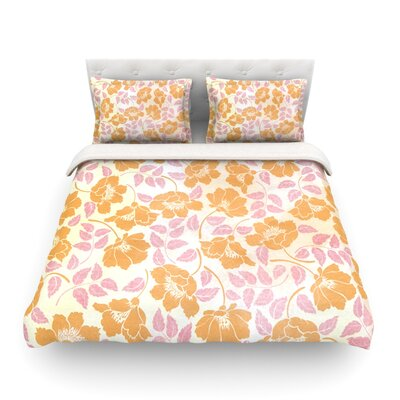 Sun Kissed Petals O by Heidi Jennings Featherweight Duvet Cover Size: King