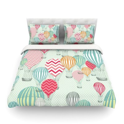 Hot Air Baloons by Heidi Jennings Featherweight Duvet Cover Size: Twin