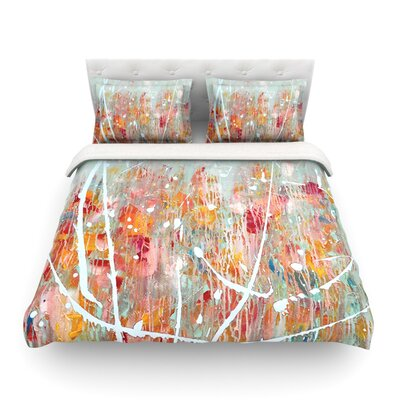 Joy Splatter Paint by Iris Lehnhardt Featherweight Duvet Cover Size: King