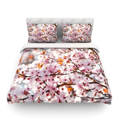 Flowering Plum Tree Blossoms by Iris Lehnhardt Featherweight Duvet Cover Size: Full/Queen