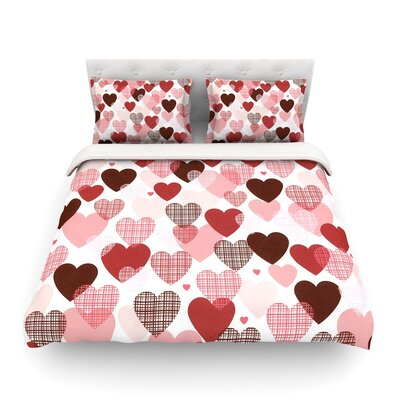 Love by Heidi Jennings Featherweight Duvet Cover Size: King