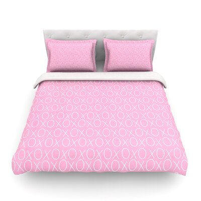 Hugs & Kisses Pattern by Heidi Jennings Featherweight Duvet Cover Size: Full/Queen