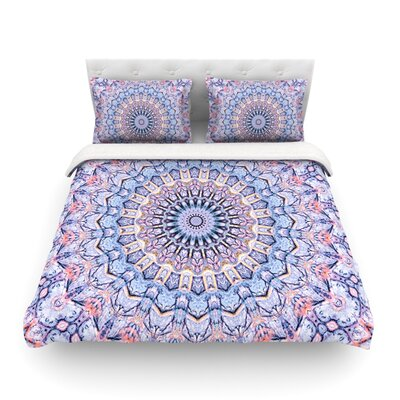 Summer Lace II Circle by Iris Lehnhardt Featherweight Duvet Cover Size: Twin