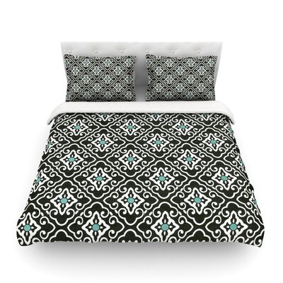 Geometric by Heidi Jennings Featherweight Duvet Cover Size: Twin