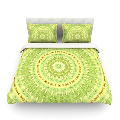 Wheel of Spring Circle by Iris Lehnhardt Featherweight Duvet Cover Size: King