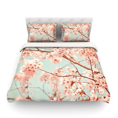 Blossoms All Over Flowers by Iris Lehnhardt Featherweight Duvet Cover Size: Twin