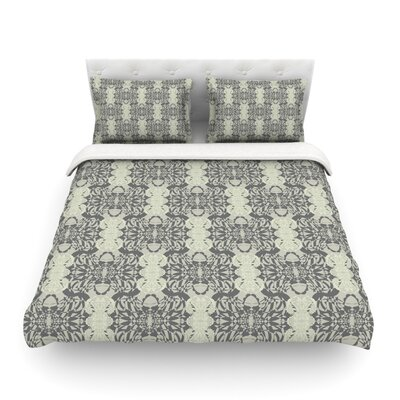 Illusion Damask by Mydeas Featherweight Duvet Cover Size: Full/Queen