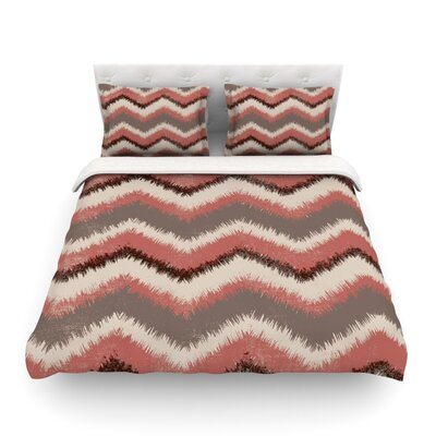 Fuzzy Chevron by Heidi Jennings Featherweight Duvet Cover Size: King