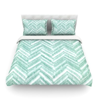 Painted Chevron by Heidi Jennings Featherweight Duvet Cover Size: Twin