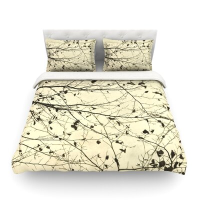 Boughs Neutral by Iris Lehnhardt Featherweight Duvet Cover Size: Twin