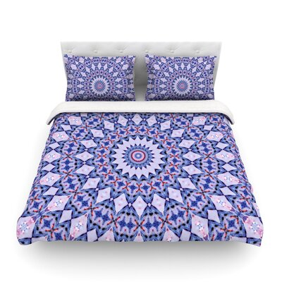 Kaleidoscope Circle by Iris Lehnhardt Featherweight Duvet Cover Size: King