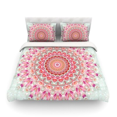 Summer Lace III Circle by Iris Lehnhardt Featherweight Duvet Cover Size: Twin