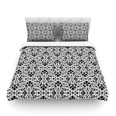 Diamond Illusion Damask Pattern by Mydeas Featherweight Duvet Cover Size: King
