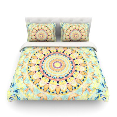 Flourish Circle by Iris Lehnhardt Featherweight Duvet Cover Size: Twin