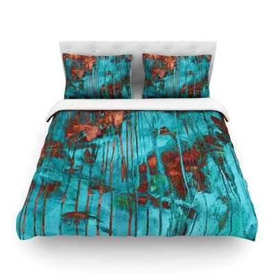 Rusty Paint by Iris Lehnhardt Featherweight Duvet Cover Size: King