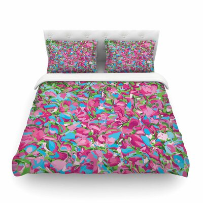 Abstract Spring Petals by Empire Ruh Featherweight Duvet Cover Size: Full/Queen