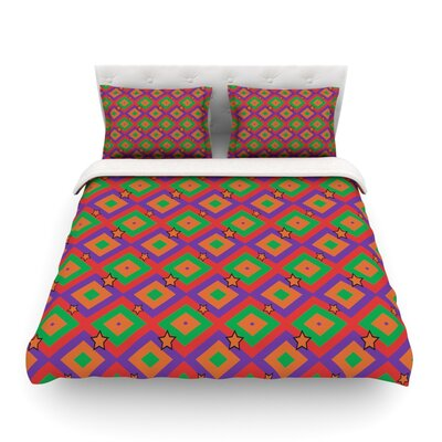 Super Stars Geometric by Empire Ruh Featherweight Duvet Cover Size: King