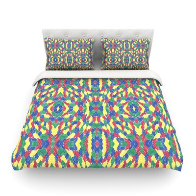 Energy Abstrac by Empire Ruh Featherweight Duvet Cover Size: Twin